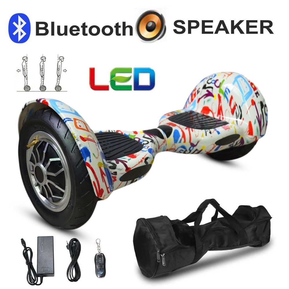 10 Inch Tyre Hoverboard Two Wheels Bluetooth Self Balance Scooter Smart Hover Board Perfect Gift EU Plug цена