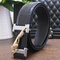 2017 Moda de Nueva Diseñador Cinturones de Marca de Lujo de Los Hombres de Alta Calidad Correa de Cuero genuina del Hombre de Lujo Starp Regalo Para Los Hombres de La Pretina cinturones