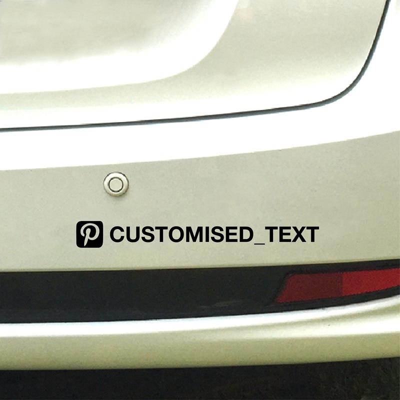 Custom Facebook Username Vinyl Decal Sticker