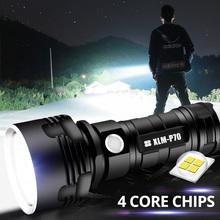 Super mocna latarka LED L2 XHP50 latarka taktyczna USB akumulator Linterna wodoodporna lampa ultra jasny latarnia Camping tanie tanio SHENYU 2-4 plików Aluminum Alloy Wysokie niskie Odporny na wstrząsy POWER BANK Twarde Światło Samoobrona Bez regulacji