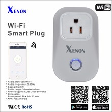 Works with Alexa and Google Assistant wifi plug 10A+timer US wifi power socket plug outlet smart phone Wireless Controls