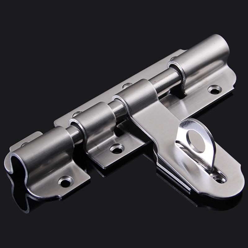 все цены на High Quality 2PCS/LOT 4Inch Stainless Steel Door Bolt Lock Security Gate Door Barrel Bolts Hasp Door Latch Catch Lock