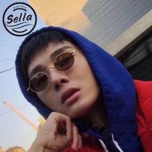 Sella 2018 New Classic Retro Fashion Small Oval Alloy Frame Sunglasses Popular Men Women Round Tint Lens Sun Glasses Eyewear