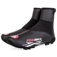 KINGBIKE NEW Cycling Shoe Covers Rain Size 36 46 Winter Black Fleece Warm Bicycle Accessories Waterproof bicycle Shoe Cover MTB