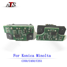 CMYK OPC Drum Chip for Konica Minolta Bizhub C 450 350 351 compatible Copier spare parts C450 C350 C351 printer supplies цена