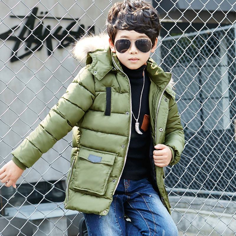 Children's Outerwear Boy l Winter Warm Hooded Coat Children Cotton-Padded Clothes kid jackets 5-11 years children winter coats jacket baby boys warm outerwear thickening outdoors kids snow proof coat parkas cotton padded clothes