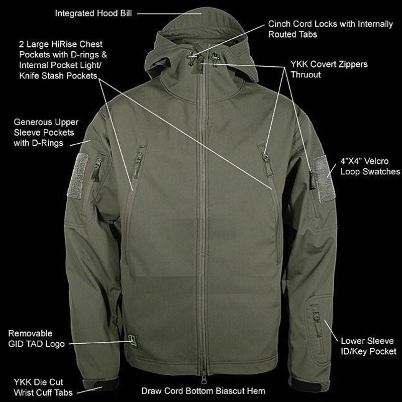 TAD Gear Lurker Shark skin Soft Shell TAD V 4.0 Outdoors Military Tactical Jacket Waterproof Windproof Sports Army Clothing lurker shark skin soft shell v4 military tactical jacket men waterproof windproof warm coat camouflage hooded camo army clothing