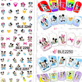 New Arrival!  Larger (11 DESIGNS IN 1) Cute cartoon Mickey Mouse Nail Art sticker water transfer Nail Tattoo #BLE2248-2258
