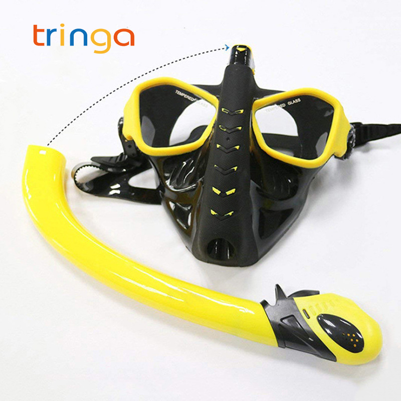 New Professional Scuba Diving Mask Snorkel Anti-Fog Goggles Glasses Set Silicone Swimming Fishing Pool Equipment For Adult