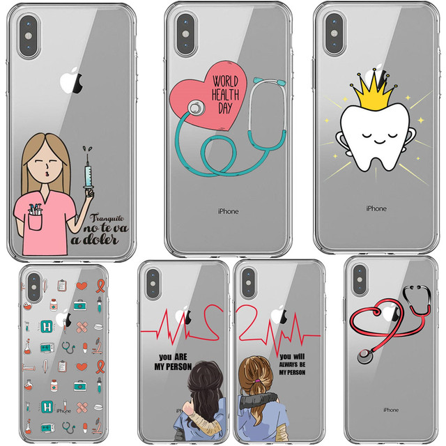 best sneakers b42d7 a7fd6 US $0.85 21% OFF|Cartoon Medicine Doctor Nurse Heart Beat Greys Anatomy  You're My Person Phone Case For iPhone 5S SE 6S Plus 7 8 Plus Xs XR MAX  X-in ...