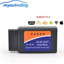 High Quality V1.5 ELM327 WIFI OBD2 OBDII Auto Diagnostic Tool ELM 327 Scanner Wifi Wireless for Android/ IOS Scanner Interface