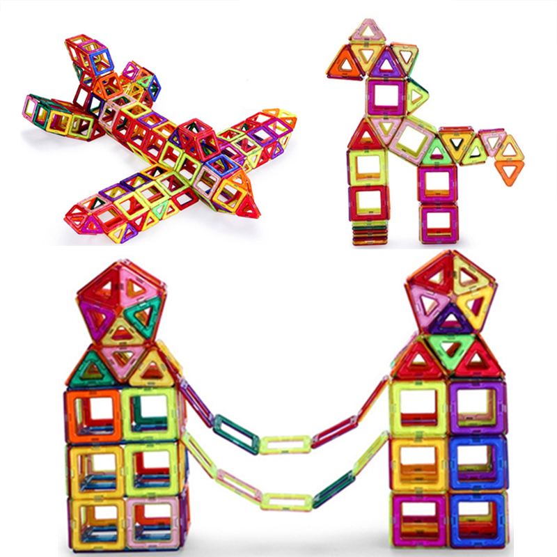 18-91pcs Mini Magnetic Designer Toy Kids Educational Toys Plastic Creative Bricks Enlighten Building Blocks gifts for children magnetic sticks building blocks 218pcs set intelligence toys plastic car toy educational magnet bricks kit for children kids