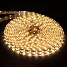220 В светодиодный ленточный светильник 5050 светодиодный водонепроницаемый IP67 яркий, чем 5630 2835 3528 Светодиодный Ленточный белый теплый белый красный зеленый синий