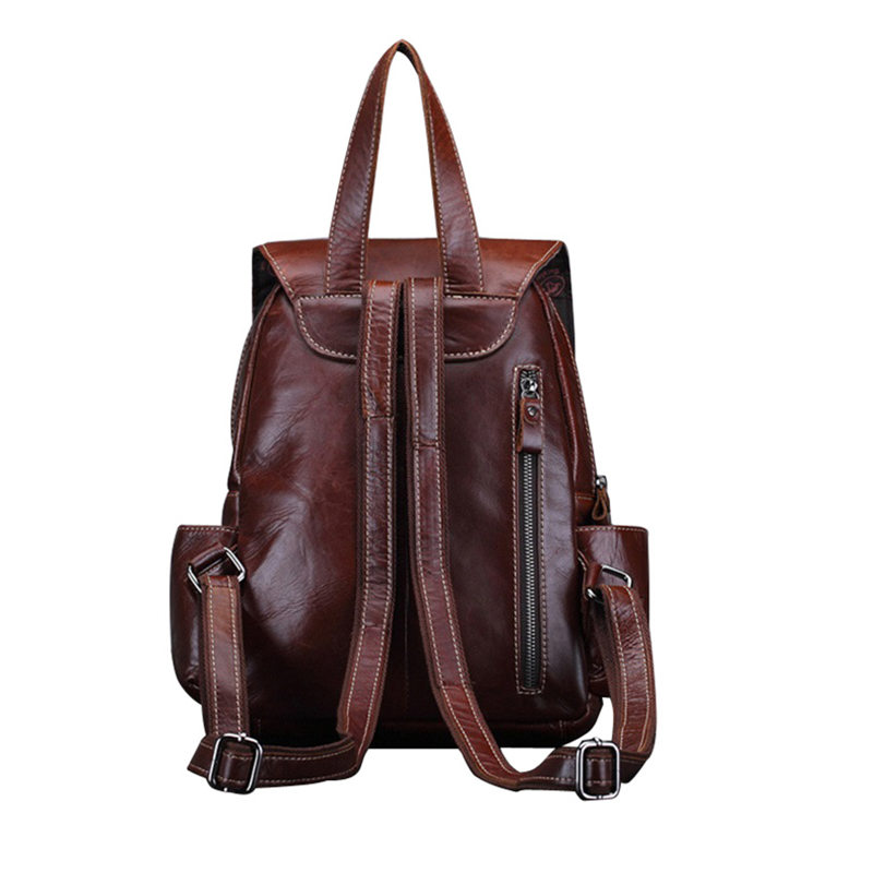 COWATHER Vintage 2016 cow genuine leather backpacks for women big capacity Exquisite Crafts Oil wax leather high free shipping