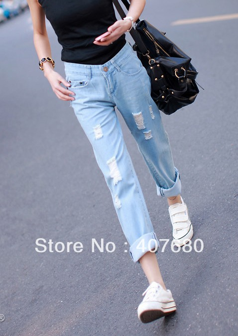 Aliexpress.com : Buy women's casual boyfriend Denim harem jeans ...
