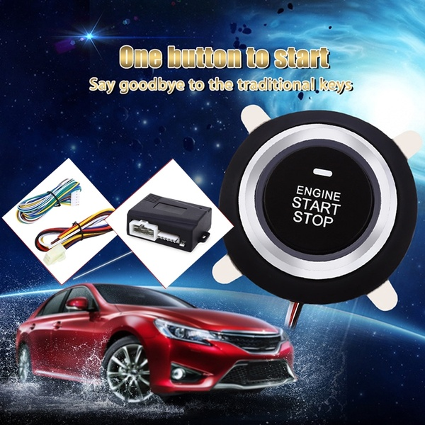 Universal Car Engine Start Stop Push Button System Auto Start-Stop Button Car Alarm Remote Engine Ignition Start Button 5