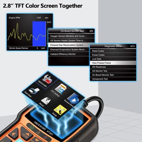 Foxwell NT301 OBD OBD2 Scanner Car Engine Code Reader Diagnostic Tool Multi-languages Universal odb 2 odb2 Automotive Scanner Karachi