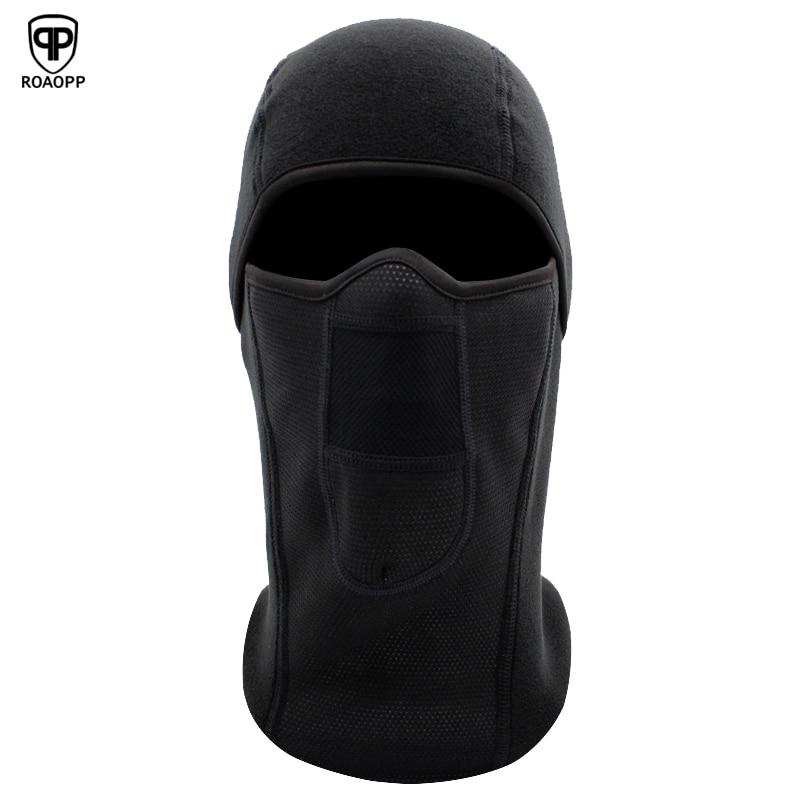 ROAOPP Polar Fleece Wool Balaclava Motorcycle Mask Neck Warmer Full Face Mask Breathable Windproof Bicycle Ski Snowboard Workout