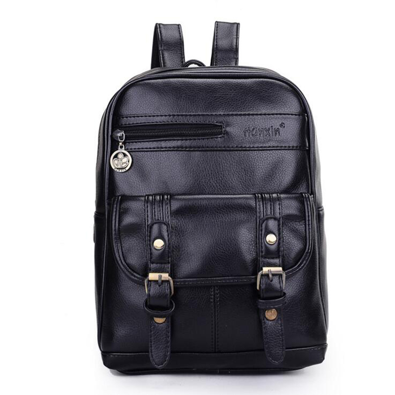 Hot Fashion Women Pu Leather Backpack Black And Brown Vintage Backpack School Bags For Teenagers Brown/black/blue/red Girls