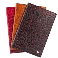 New Arrival QIALINO Fashion Smart Slim Genuine Leather Case for iPad Mini 4 Crocodile Pattern Magnet Flip Stand Cover Card Slot