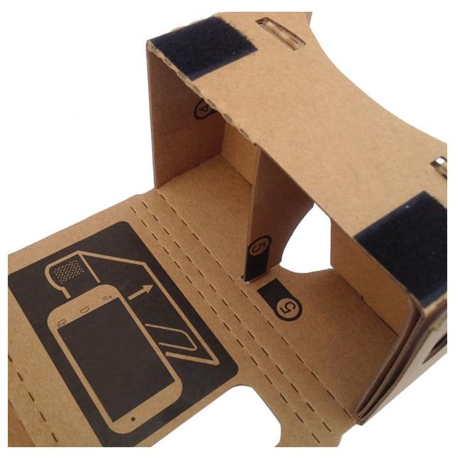 Óculos de Realidade Virtual Óculos Google Papelão Caixa de Óculos VR 3D Filmes Para Google Nexus Moto X tela menor celular