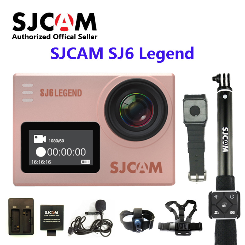 D'origine SJCAM SJ6 LÉGENDE WiFi 4 k 24fps Ultra HD Notavek 96660 Caméra D'action étanche 2 Écran Tactile À Distance sport