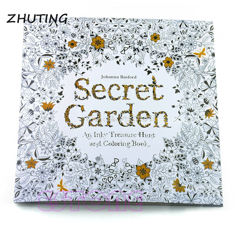 Children Secret Garden Coloring Book 14 Pages Adult Relieve Stress ...