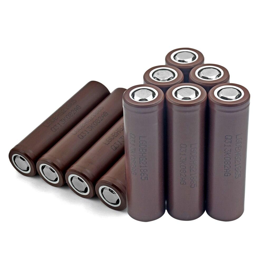 10x batterie au Lithium Rechargeable LG 18650 HG2 3.7 V 3000 mAh pour phare torche pour stylo Laser lampe de poche LED support de batterie de cellule