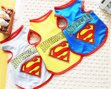 FB37 Pets Clothes Dog Summer Vest – Superman design Summer dog Clothing FREE shipping