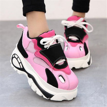 Women Shoes Sneakers Flats Zapatillas Deportivas Woman Creepers Casual Shoes Increasing Heel Zapatos Mujer Flat Platform women shoes flats height increasing 2018 leather fashion casual shoes woman flat work platform walking loafers