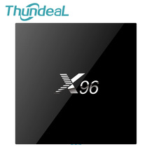 Thundeal X96 Amlogic Android 6.0 TV Box Set Top Box Quad Core 2.4 ГГц Wi-Fi HDMI 2.0 с USB AV LAN TF Media Player Smart Box