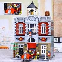 New Lepin 15004 2313Pcs City Street Fire Brigade Model Building Kits Blocks Bricks Compatible Legoed 10197