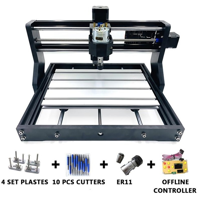 New CNC 3018 Pro GRBL Diy Mini Cnc Machine 3 Axis Pcb Milling Machine Bluetooth Wood Router Laser Engraving CNC3018 Work Offline