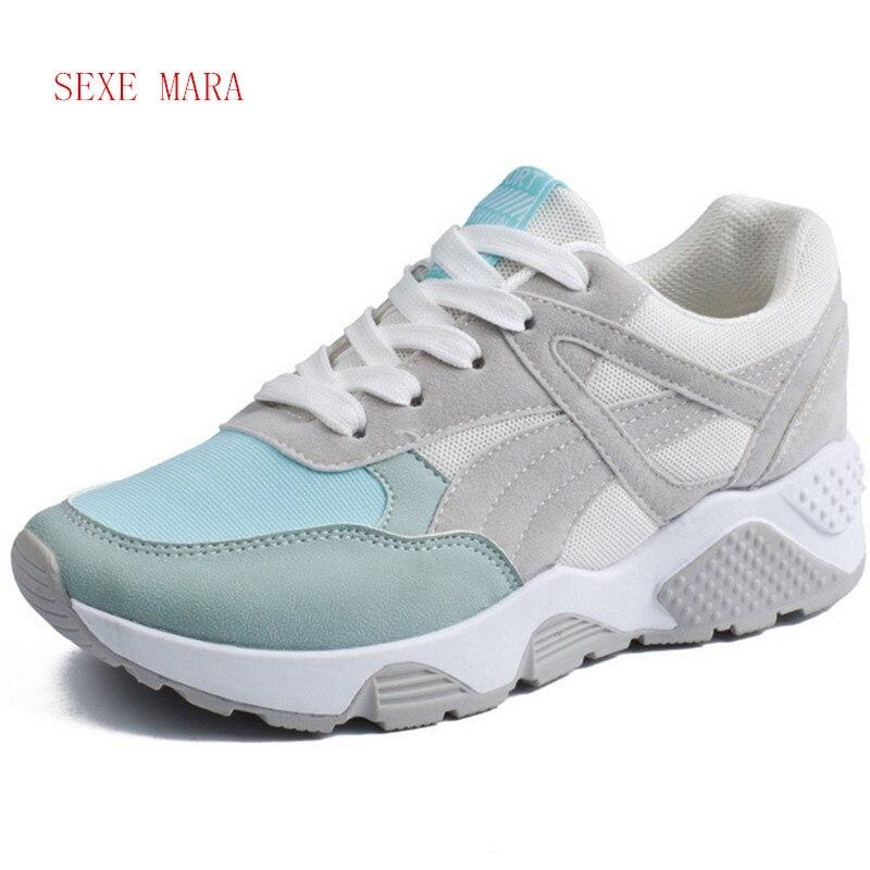 2017 nuevas zapatillas de deporte de las mujeres del verano transpirable jogging
