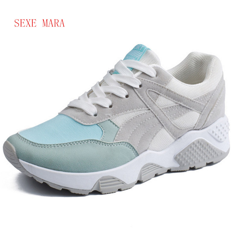 NEW 2017 Sneakers women Summer Breathable Jogging Outdoor sport shoes woman Running shoes for women Athletic Trainers Walking N outdoor sport women high top running shoes genuine leather running boots sneakers women plus big size