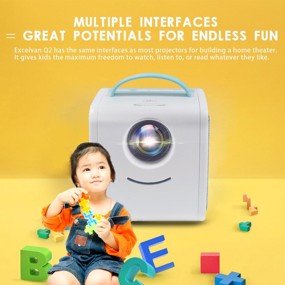 Salange q2 mini projetor portátil projetor sistema de teatro em casa crianças educação presente das crianças pai-criança mini led beamer-1