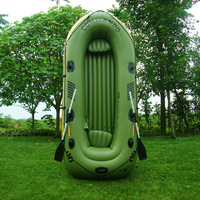 Portbale Rubber Boat Kit PVC Inflatable Fishing Drifting Rescue Raft Boat Life Jacket Air Pump Paddles 3 people boat