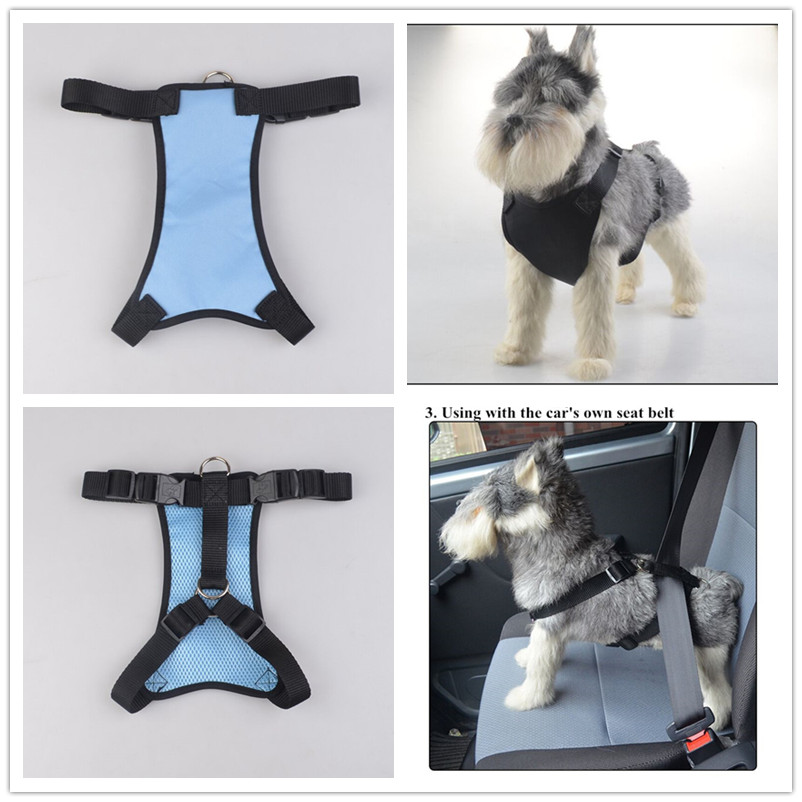 C07 Pet Vechicle harnesses Pet dog harness dog chest strap with car seat belt chest strap dual use