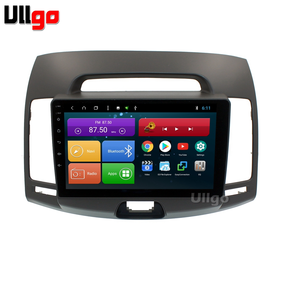 9 inch Octa Core <font><b>Android</b></font> Car <font><b>dvd</b></font> gps for Hyundai Elantra Avante 2007-2011 <font><b>Autoradio</b></font> GPS Car Head Unit With Radio Mirrorlink wifi image