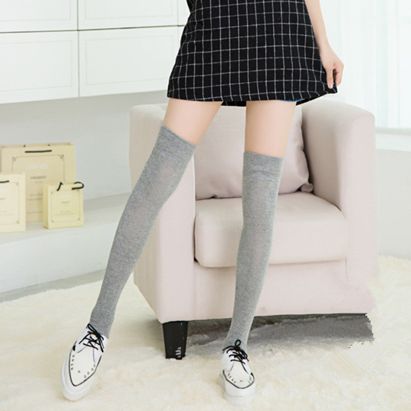 wholesale online 2018 shoes best deals on Women Stocking Sexy Casual Above Knee Socks Autunm Winter ...