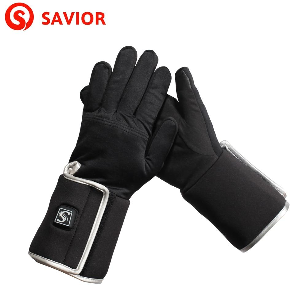 Mens ski gloves xxl - Savior S 05 Outdoor Winter Eletric Heating Gloves Liner Ski Biking Riding Hunting Thin Heated
