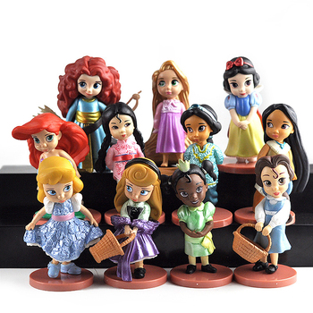11pcs/set Cartoon Cute Kawaii Fairy Tale Princess Action & Toy Figures for Girls