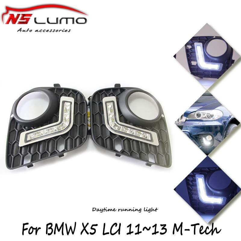 2 x Flexible drl LED Daytime Running Lights Lamp for BMW E70 X5 LCI 11~13 Car Day Lights 12V 12W led drl with Signal lighting