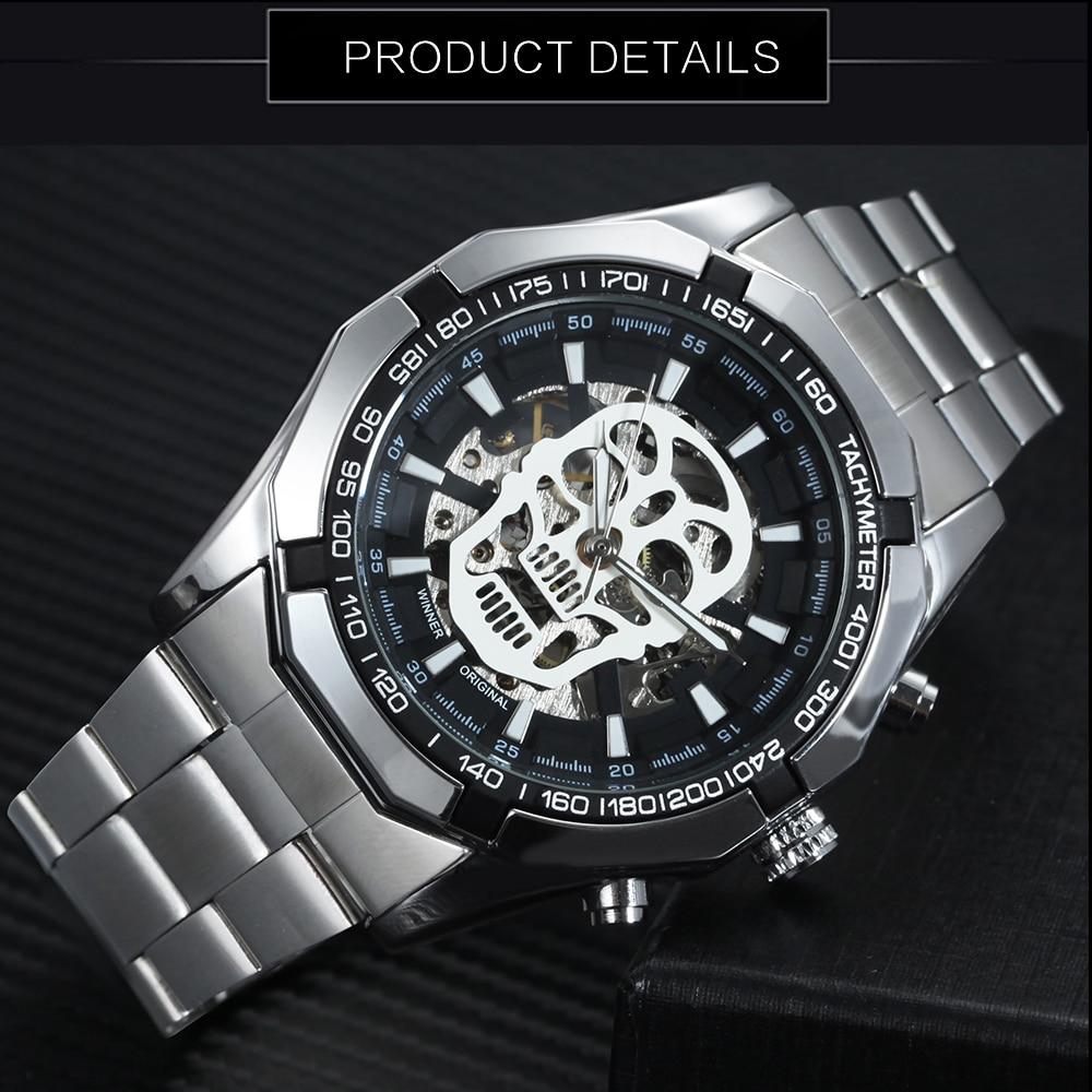 HTB1wnL3rUR1BeNjy0Fmq6z0wVXab WINNER New Fashion Mechanical Watch Men Skull Design Top Brand Luxury Golden Stainless Steel Strap Skeleton Man Auto Wrist Watch