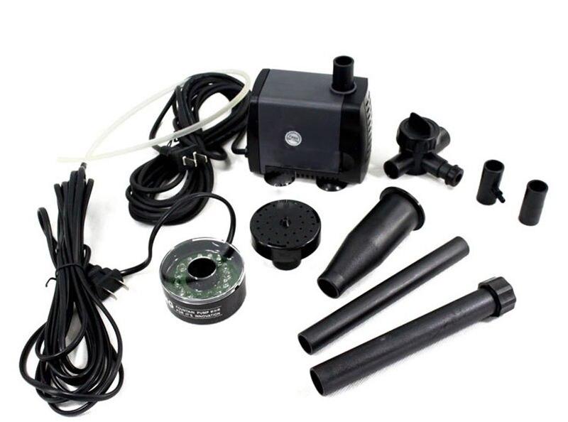 Ev ve Bahçe'ten Su Pompaları'de Akvaryum balık gölet LED dalgıç pompa 40 w 2000L/h bahçe çeşme makinesi değiştirilebilir renkli LED'da  Grup 2