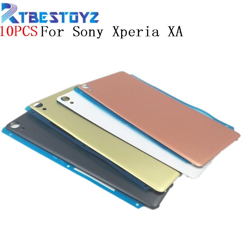 10PCS/Lot <font><b>Battery</b></font> Cover <font><b>Case</b></font> For <font><b>Sony</b></font> <font><b>Xperia</b></font> <font><b>XA</b></font> F3111 F3113 F3115 Rear Back Housing <font><b>Case</b></font> With Logo image