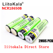 2019 LiitoKala 100% Original 3.7V NCR 18650B 3400 3400mAh Rechargeable Batteries  Power Bank for Flashlight ( PCB)