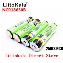 LiitoKala 100% Original 3.7V NCR 18650B 3400 3400mAh Batteries rechargeables batterie externe pour lampe de poche (PCB)