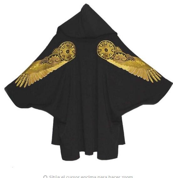 2019 новый мужской Костюмы куртка кардиган с капюшоном свободные в длинное пальто плащ личности битой певица костюмы