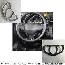 Автомобиль укладка палку крышка руль набор инструкций отделкой лампы рамка панели лампа часть капюшон для Honda FIT JAZZ 2014 2015 2016